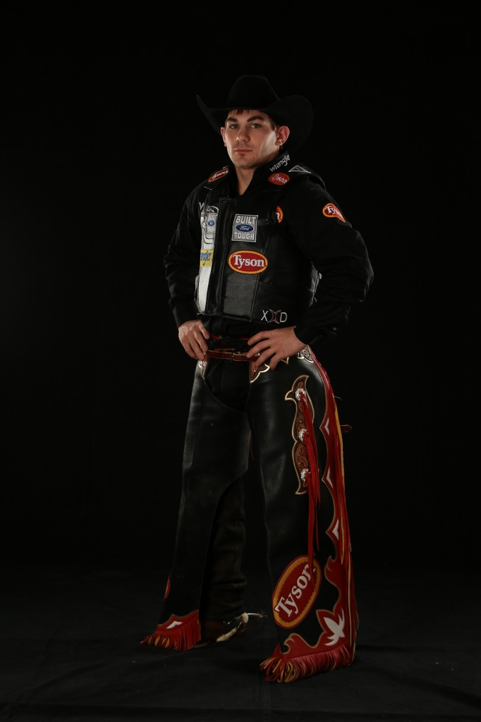 Chase Outlaw. Oklahoma City Built Ford Tough series PBR. Photo by Andy Watson